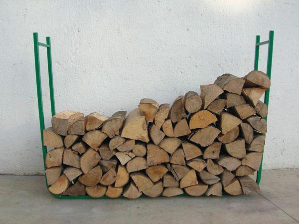 Stockez votre bois de chauffage facilement - Ranger du bois de chauffage ...