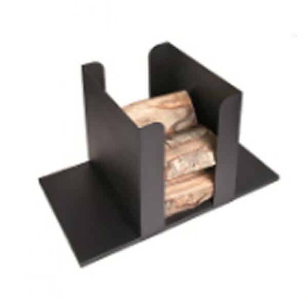 Range b ches logama noir xl pour entreposer votre bois de chauffage alloboi - Rangement buche de bois interieur ...