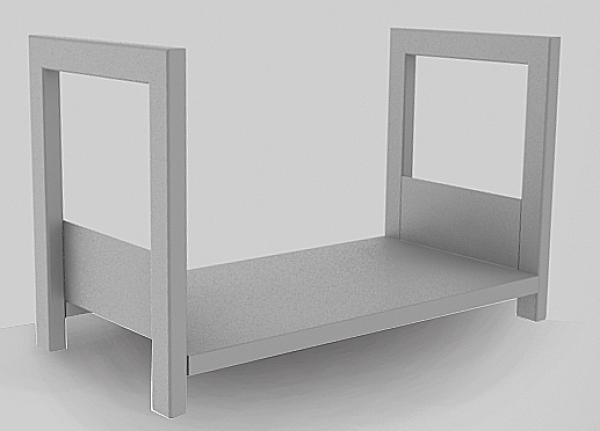 range b ches mind blanc pour entreposer votre bois de chauffage. Black Bedroom Furniture Sets. Home Design Ideas